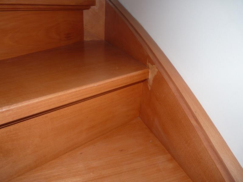 Repeindre un escalier couleur bois vitrifi for Peut on peindre sur un escalier vitrifie