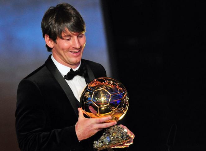 Leo Messi, ganador del Balón de Oro 2011