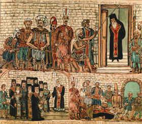 Theophilos est assassine par les Turcs musulmans