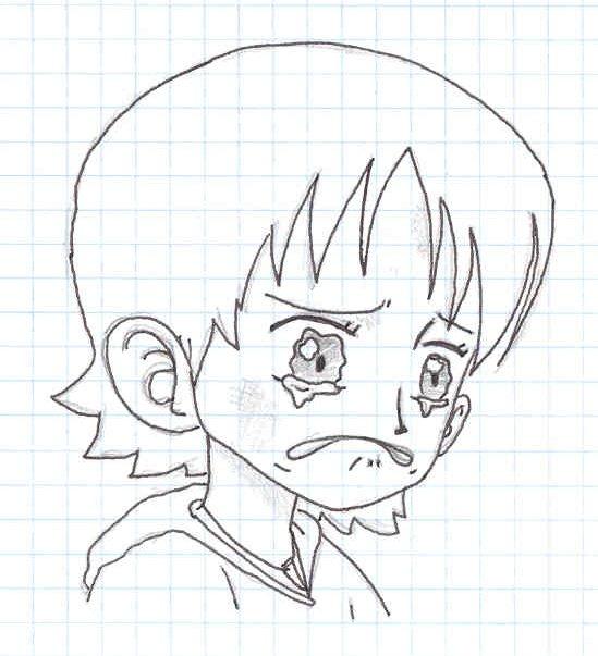 Dibujo de rostro triste - Imagui
