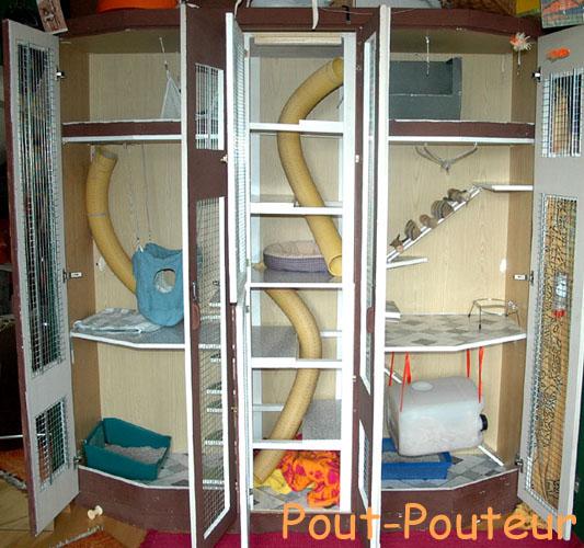 Furet cage maison ventana blog for Accessoire furet fait maison