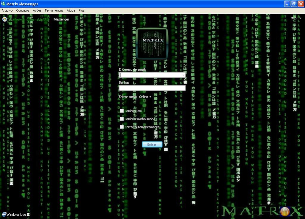 Skin Do Matrix Para MSN Plus