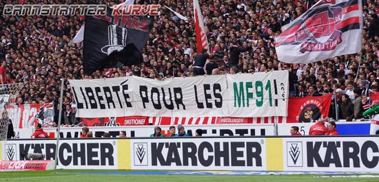 reputable site e7de4 50dae Les Ultras de Stuttgart pensent aux blessés Stéphanois ...
