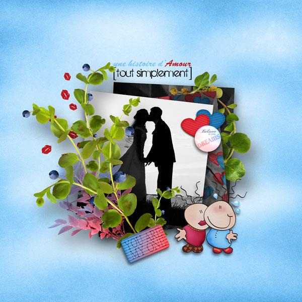 kit une histoire d'amour tout simplement simplette page simplette