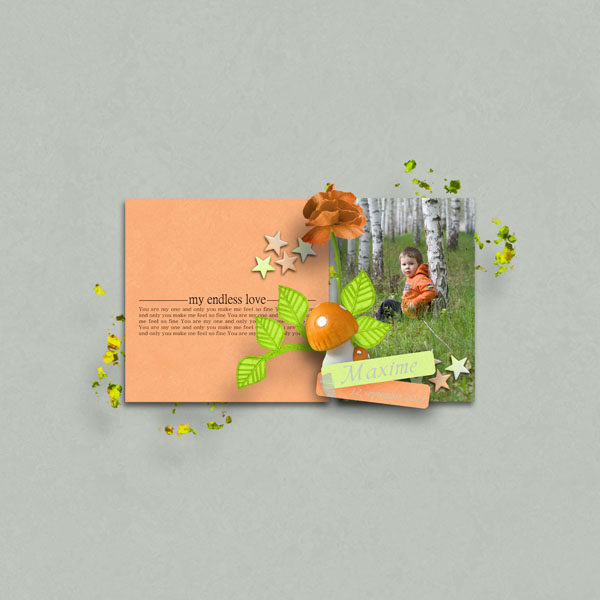 kit romantic treasure simplette page simplette