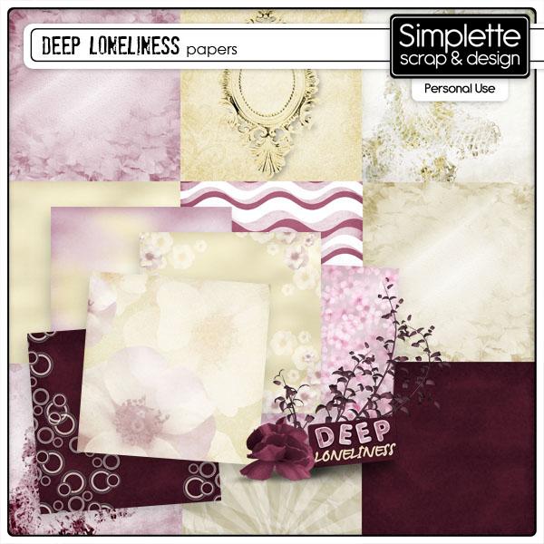 kit deep loneliness simplette preview papiers