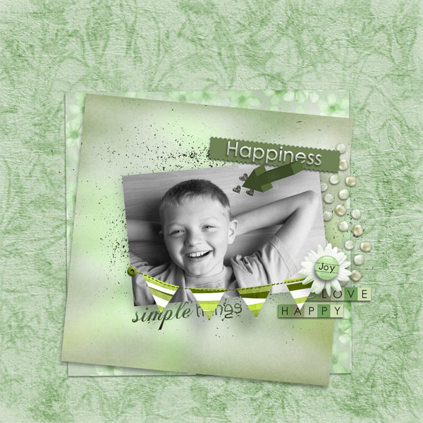 kit happiness simplette page simplette