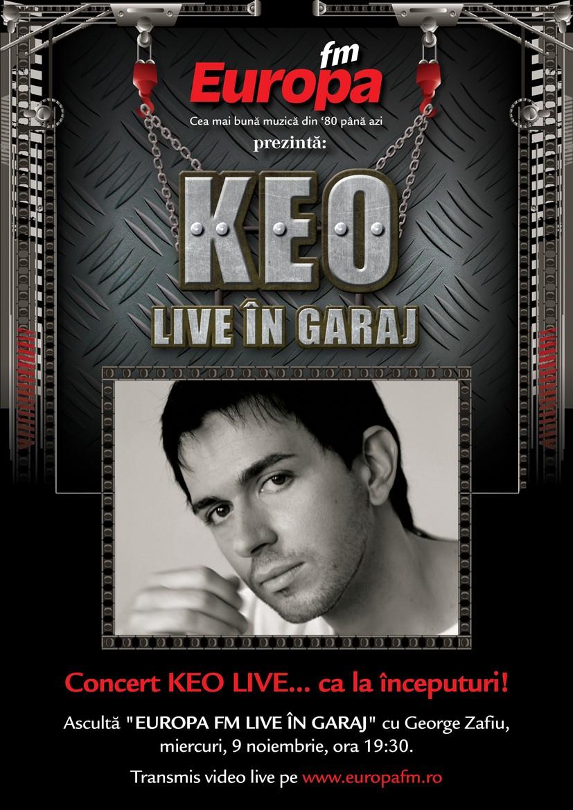 KEO va face mega-show în Garajul Europa FM