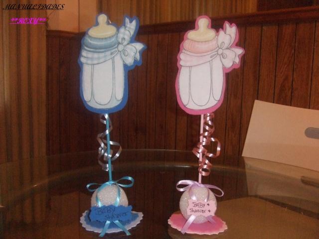Arreglos para baby shower de niña en foami - Imagui