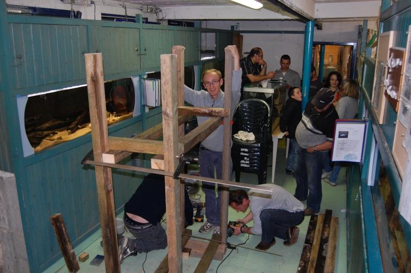 Construction d'un support pour un aquarium récial au sein du club des Amis Aquariophiles de Gouesnou