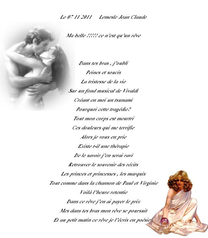 Ma belle ce n 39 est qu 39 un r ve poeme de jcl - Qu est ce qu un attrape reve ...