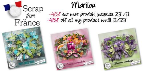 promo boutique SFF de Marilou - 45 % jusqu'au 23/11/2012