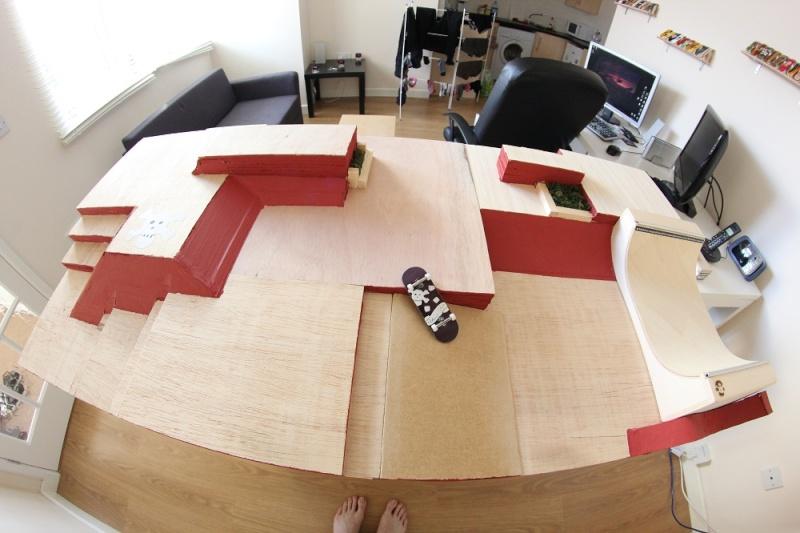 how to make fingerboard park