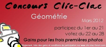 Concours photo du forum de photographie Clic-Clac de Mars 2012, sur le thème Géométrie