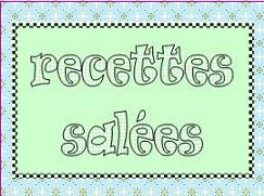 RECETTES SALEES