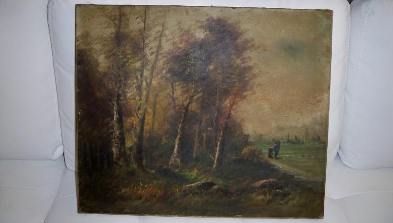 Huile sur toile ancienne barbizon signature identifier for Barbizon peintre