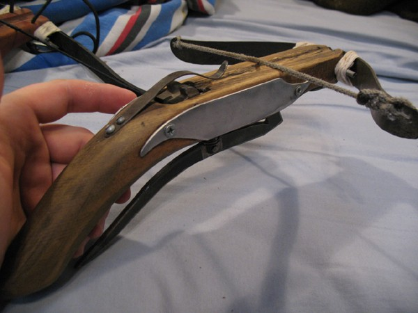 how to make a homemade pistol crossbow