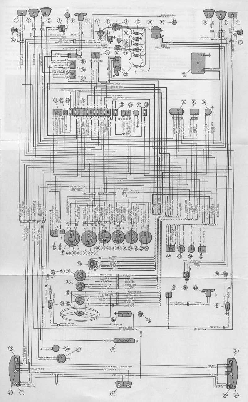 Schema Elettrico Fiat D : Schema impianto elettrico sport coupè