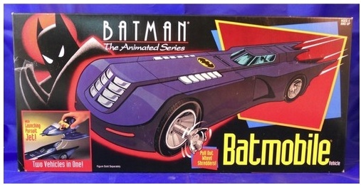 Cerco batmobile del cartone animato di batman
