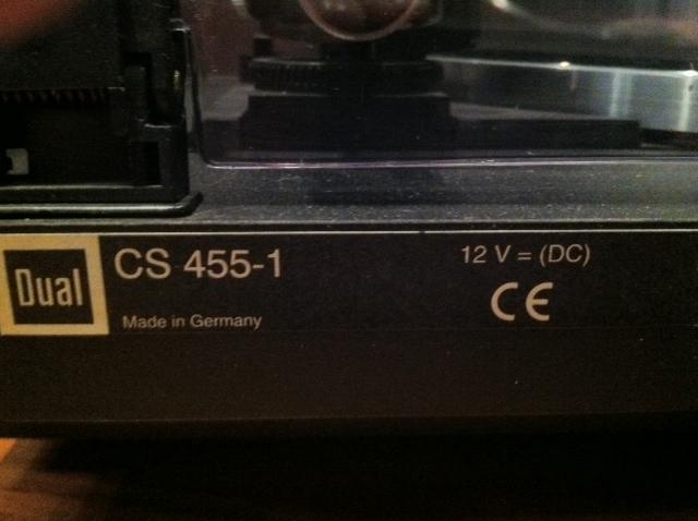 Turntable Dual Cs 455 1 Sold T 237 R Na Hifi