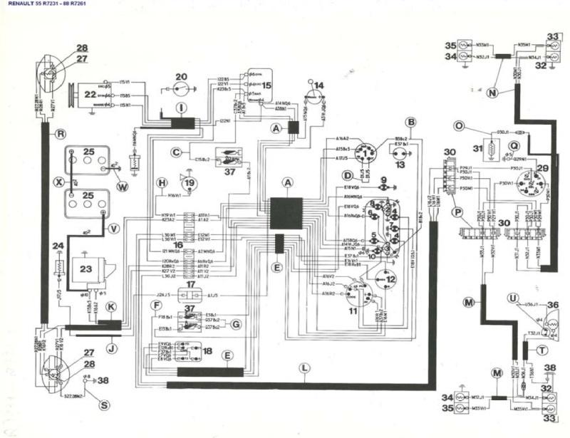 schema electrique renault automobiles pneus roues. Black Bedroom Furniture Sets. Home Design Ideas