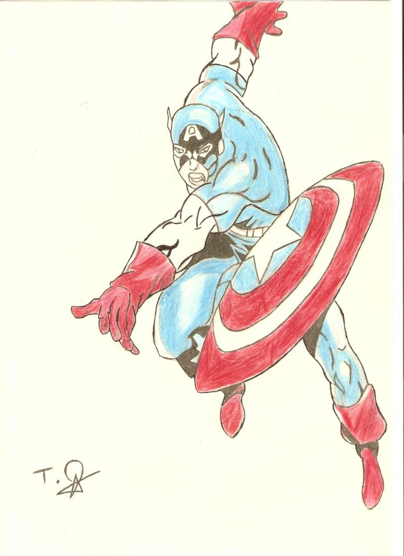 Captain america - Dessin captain america ...