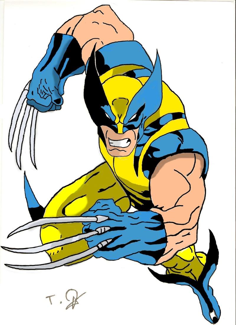 Wolverine colorier - Wolverine dessin ...