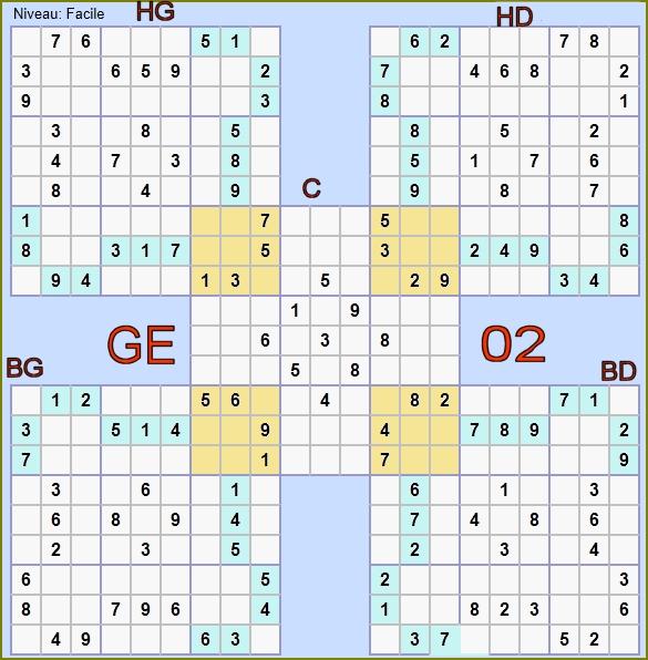 Sudoku samourai facile imprimer - Grilles sudoku gratuites ...