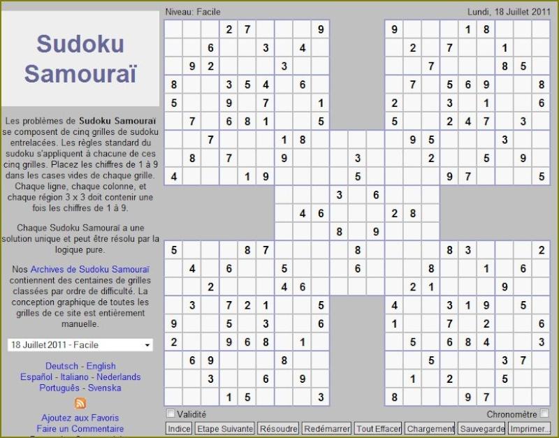 Sudoku grille samourai - Grilles de sudoku vierges ...