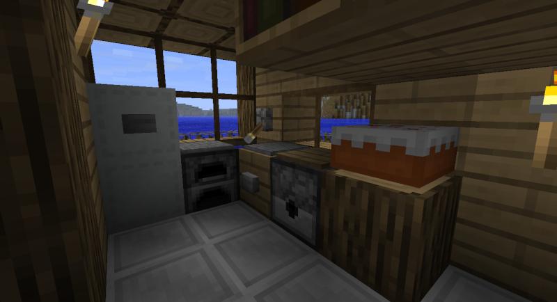 maison moderne cubique minecraft. Black Bedroom Furniture Sets. Home Design Ideas