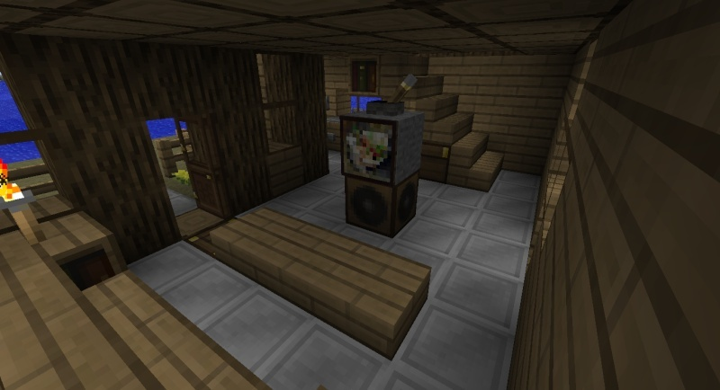 Maison moderne cubique minecraft for Cuisine moderne minecraft