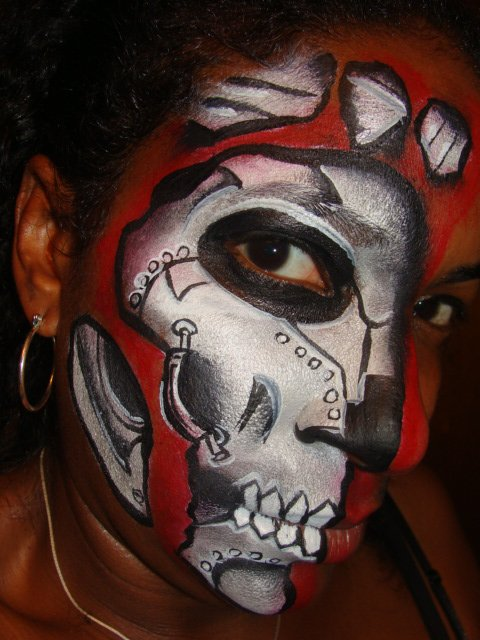 Cyborg Face Makeup Cyborg Face Makeup Face