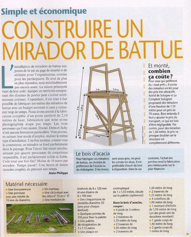Construire un mirador de battue page 2 for Comment concevoir un plan de construction