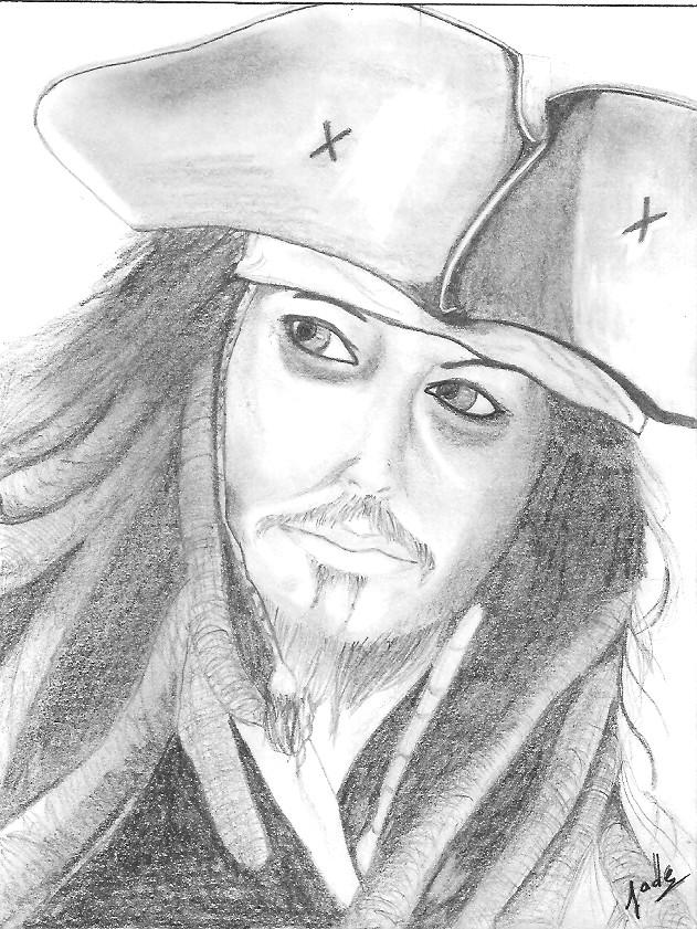 Johnny depp pirates des cara bes - Dessin pirate des caraibes ...