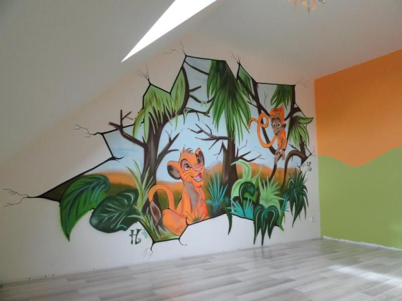 fresque mural disney. Black Bedroom Furniture Sets. Home Design Ideas