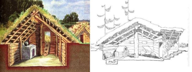 Древние дома славян фото