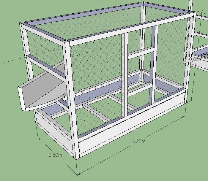 La construction d 39 une cage en photo for Construire une voliere exterieur