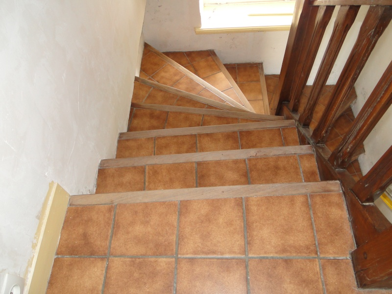 Recouvrir un escalier en carrelage for Peindre un sol en bois
