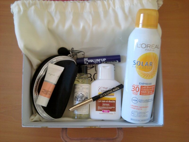 Les différentes versions de My little travel box :  box de juillet 2012