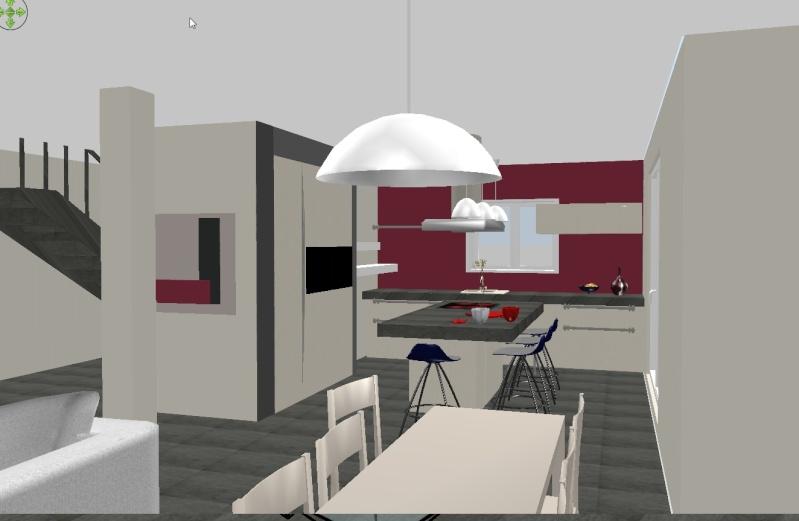 Conseils couleurs murs rdc - Mur couleur framboise ...